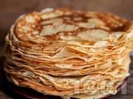Хрупкави английски палачинки - тънки, без набухвател (без сода и без бакпулвер)